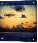 Orange Sunset Over Ocean Acrylic Print