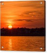 Orange Sunset Sky Island Heights Nj Acrylic Print