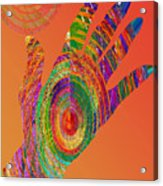 Orange Swirl Hand Acrylic Print