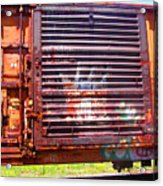 Orange Train Car Acrylic Print