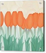 Orange Tulipans Acrylic Print