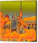 Orange Version Of Notre Dame Acrylic Print