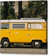Orange Vw Bus Acrylic Print