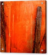 Orange Wall By Michael Fitzpatrick Acrylic Print by Mexicolors Art Photography