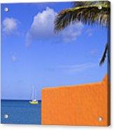 Orange Wall-st Lucia Acrylic Print