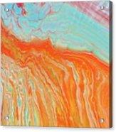 Tangerine Beach Acrylic Print