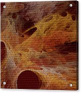 Orange With Texture Acrylic Print