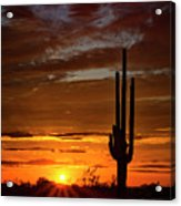Orange Ya Beautiful Skies  Acrylic Print