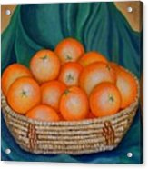 Oranges In A Basket Acrylic Print