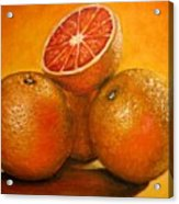 Oranges  Original Oil Painting Acrylic Print
