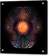 Orb Moon Rings Acrylic Print