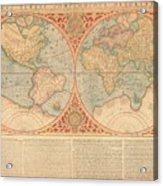 Orbis Terrae Compendiosa Descriptio  Quam Ex Magna Universali Gerardi Mercatoris Domino Richardo  Acrylic Print