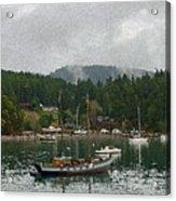 Orcas Island Digital Enhancement Acrylic Print
