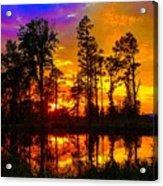Orchard Lake Sunset Acrylic Print