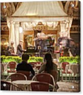 Orchestra At Ristorante Quadri On St Mark's Square - Venice Acrylic Print