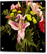 Orchid Arrangement In Color  Acrylic Print