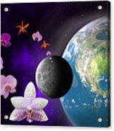 Orchid Moon Base Acrylic Print