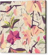 Orchid Pattern Acrylic Print