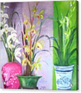Orchids Trio Acrylic Print