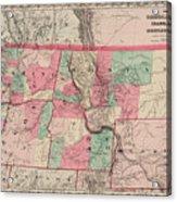 Oregon And Washington Territory Acrylic Print