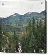 Oregon Cascade Range Acrylic Print