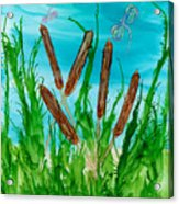 Oregon Cattails Acrylic Print
