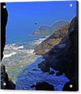 Oregon Coast From Sea Lion Caves Acrylic Print