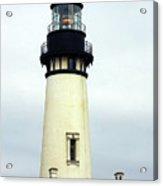 Oregon Coast Lighthouses - Yaquina Head Lighthouse Acrylic Print by Christine Till