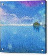 Oregon Coast Twilight Acrylic Print