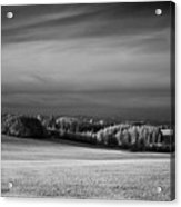 Oregon Field In Infrared Acrylic Print