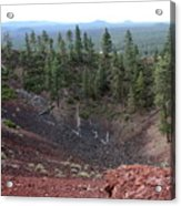 Oregon Landscape - Crater At Lava Butte Acrylic Print