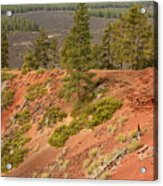 Oregon Landscape - Red Crater Acrylic Print