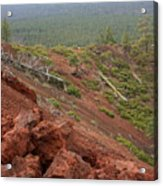 Oregon Landscape - Red Rocks At Lava Butte Acrylic Print