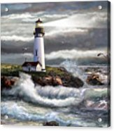 Oregon Lighthouse Beam Of Hope Acrylic Print
