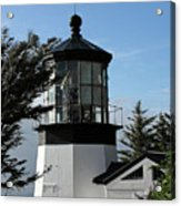Oregon Lighthouses - Cape Meares Lighthouse Acrylic Print by Christine Till