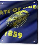 Oregon State Flag Acrylic Print