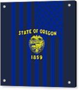 Oregon State Flag Graphic Usa Styling Acrylic Print