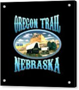 Oregon Trail Nebraska History Design Acrylic Print