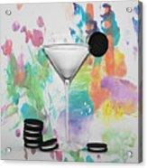 Oreo Happy Hour Watercolor Bg Acrylic Print