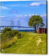 Oresund Bridge With Cabanas Acrylic Print