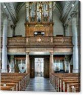 Organ At St Mary Of Aldermanbury Acrylic Print by David Bearden