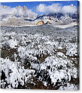 Organ Mountains With Snow Acrylic Print