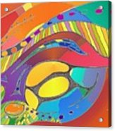 Organic Life Scan Or Cellular Light - Original, Square Acrylic Print
