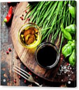 Organic Vegetables And Spices Acrylic Print
