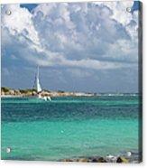 Orient Beach Catamaran Acrylic Print