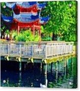 Orient Swan Pagoda Acrylic Print