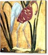 Oriental Crane Acrylic Print