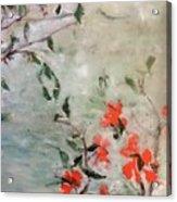 Oriental Orange Flowers Acrylic Print