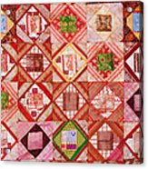 Oriental Patchwork Tapestry Acrylic Print