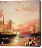 Oriental Sailor Chiefs Gathered For A Meeting On The Shores Of The Black Sea Acrylic Print